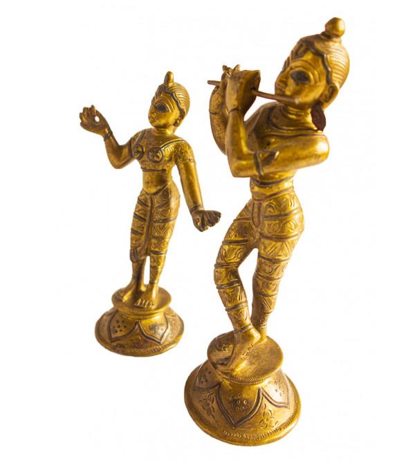 CCIC Handicraft North Indian Bronze  Brass Figures 7X2.5 Inch