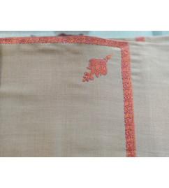 Woolen Men's Shawl With Embroidery Size 50x100 Inch