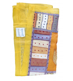 Cotton Door Curtain Applique Work 44X80 Inch