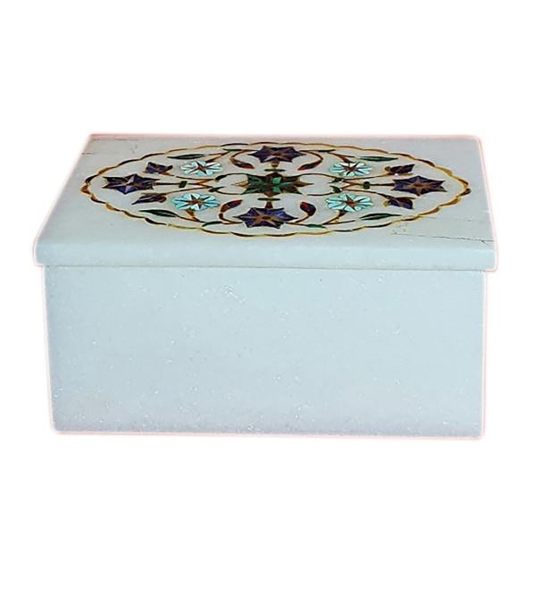 Marble Inlay Rectangular Box Size 3x4 Inch