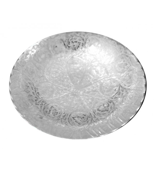 Handcrafted Brass Silver Plated Bowl