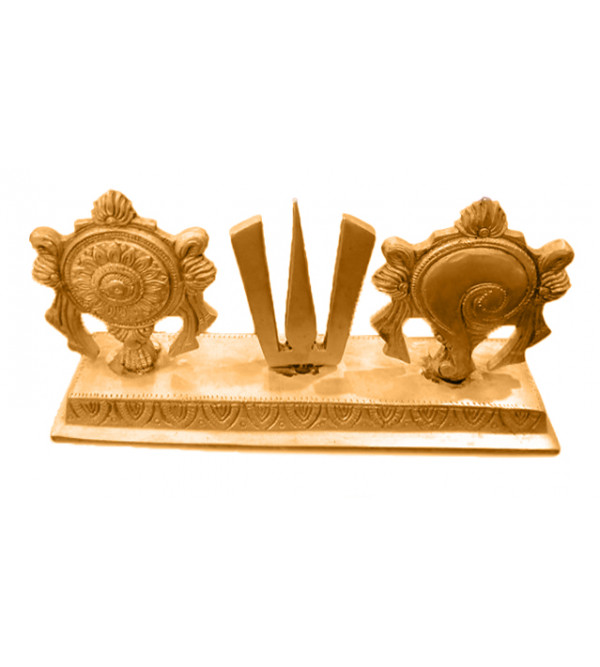Brass Handcrafted Chakra stand 5 inch