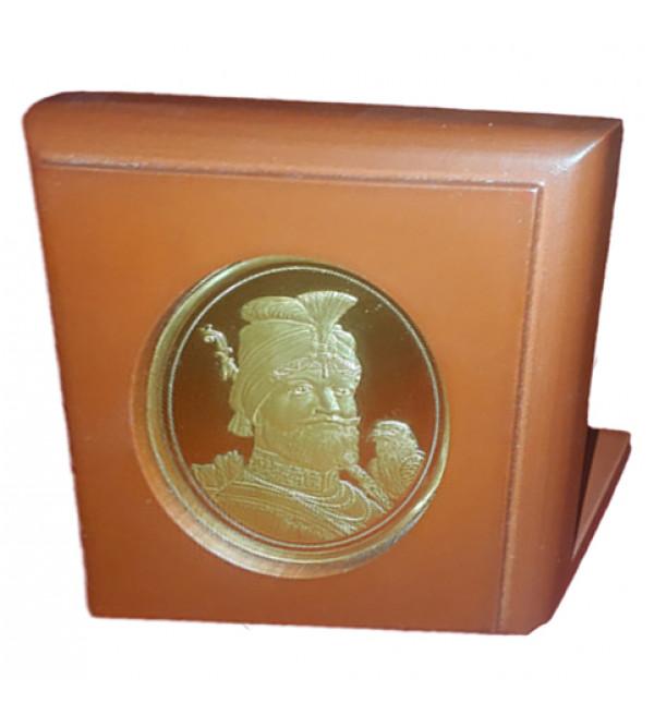 Handicrafts Brass Gold Plated Memento Guru Govind Singh 1.75X2.5 Inch