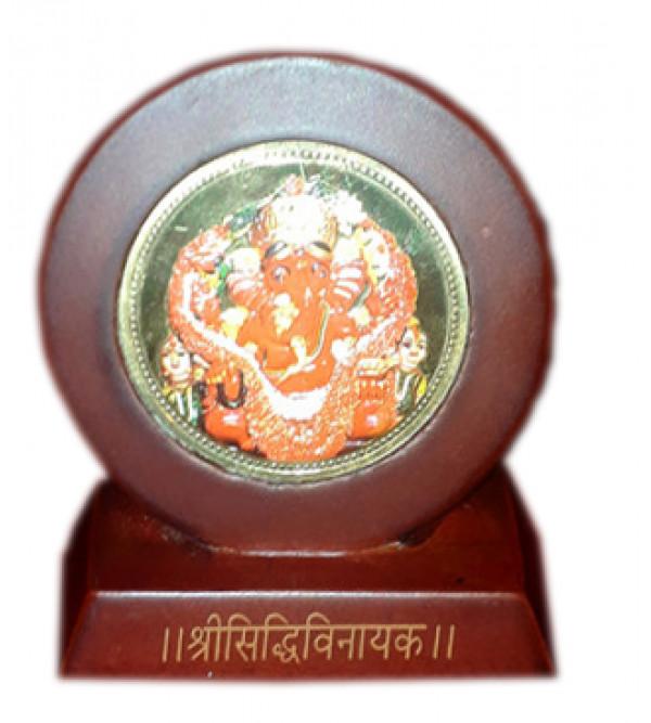 Handicrafts Brass Gold Plated Memento Lord Ganesh 2.5X2.5 Inch