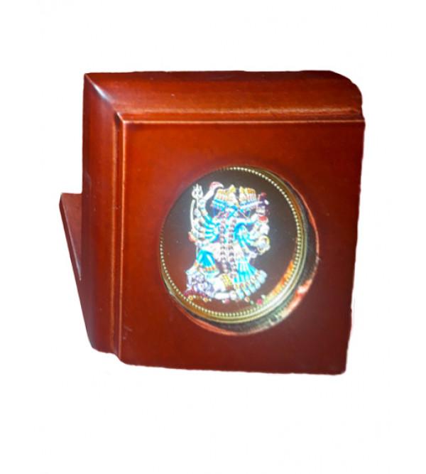 Handicrafts Brass Gold Plated Memento Goddess Kali 3x3 Inch