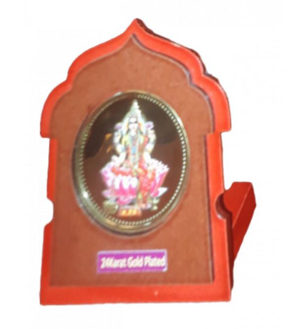 Handicrafts Brass Gold Plated Memento Goddess Lakshmi 2.5X3 Inch