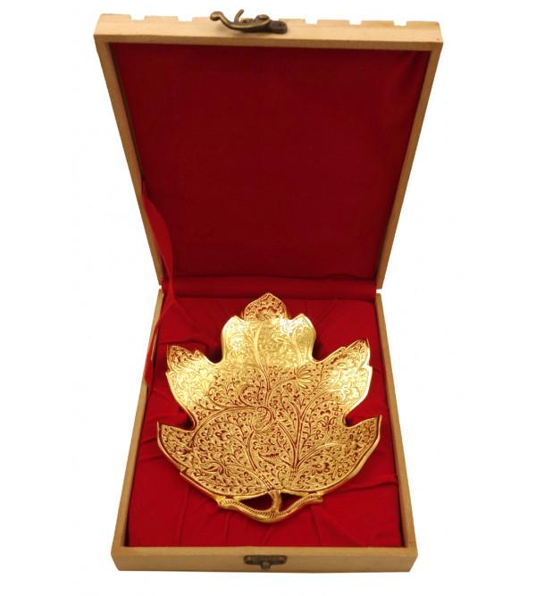 Handicraft Leaf Brass Gold Plated