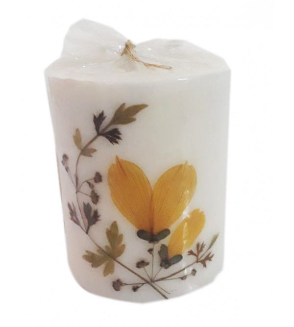 Handcrafted Candle Cylinder Shape Size Small