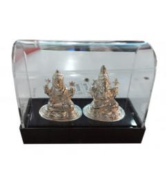 Laxmi Ganesh  9.25 Silver Article Set