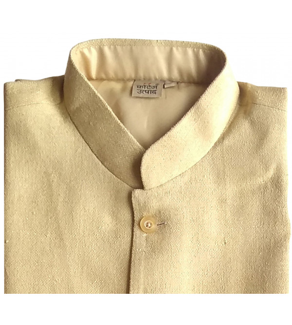 HANDLOOM MEN'S JACKET - MATKA NOIL FABRIC