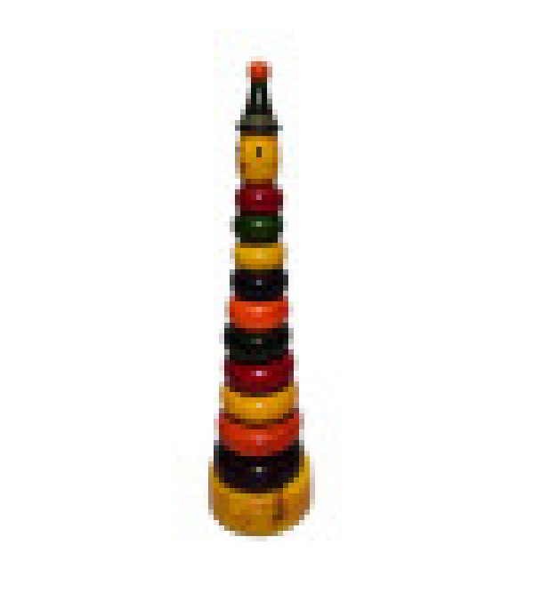 Channapatna Wooden Ring Set Toy Size 8x3 Inch