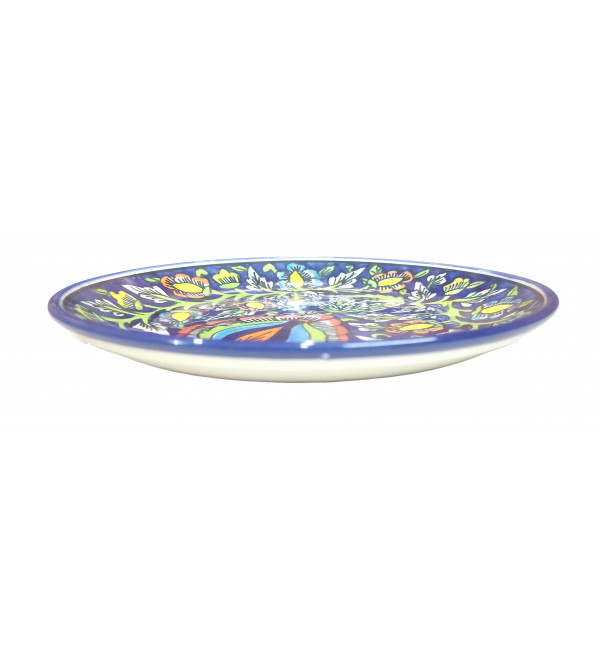 Blue Pottery Quarter Plate Size 8.5 Inch