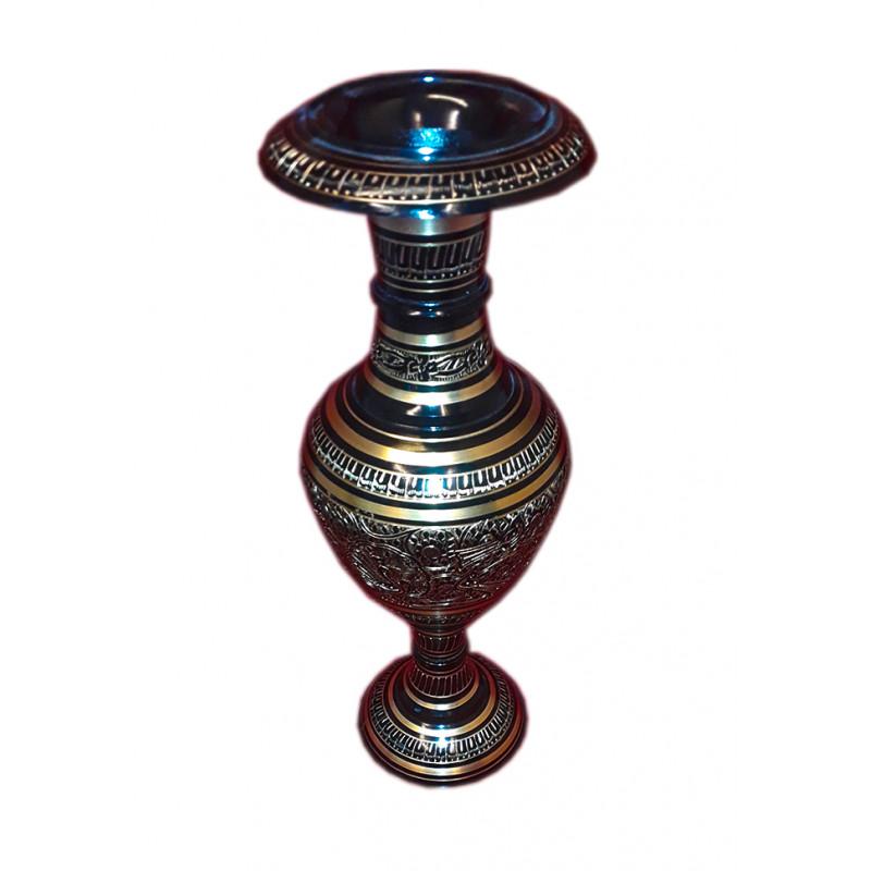 Flower Vase Brass Enameled 16 inch