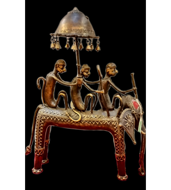 Elephant Handcrafted In Dhokra