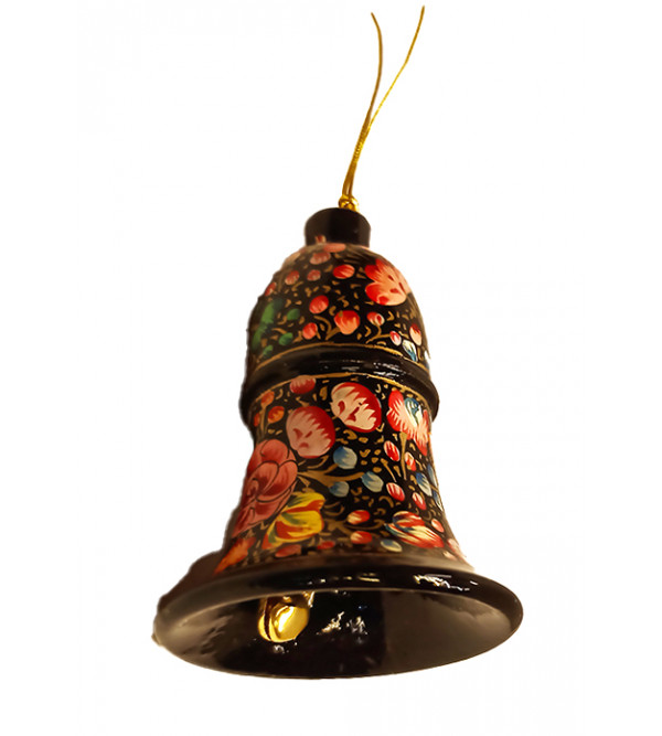 Colorful Christmas hanging (Bell Shape) in papier Mache