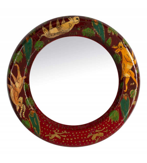 Paper Machie Purse Mirror with Handle 3 Inch