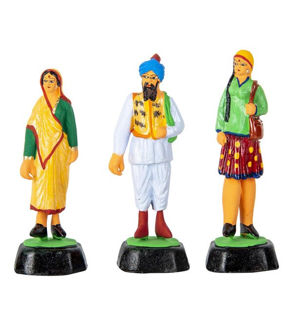 CLAY TOYS PEOPLE OF INDIA