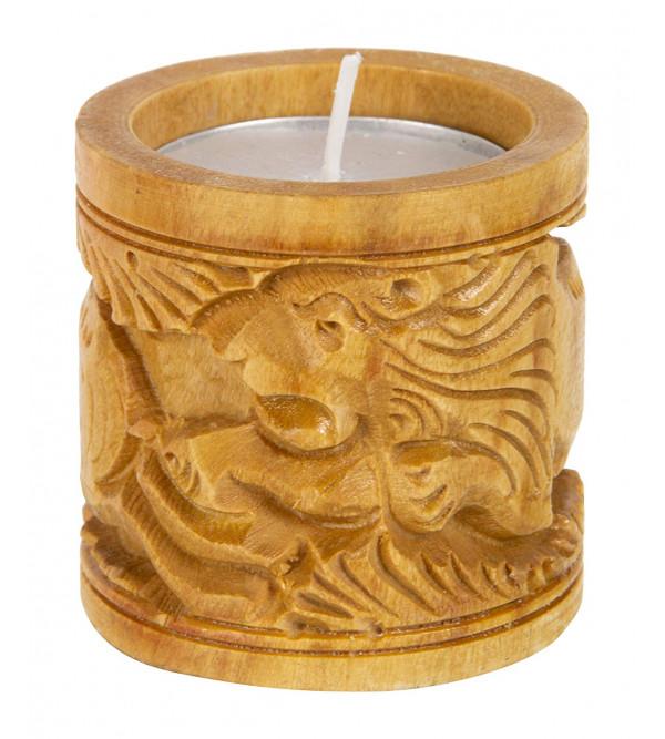 Wood Candel Holder