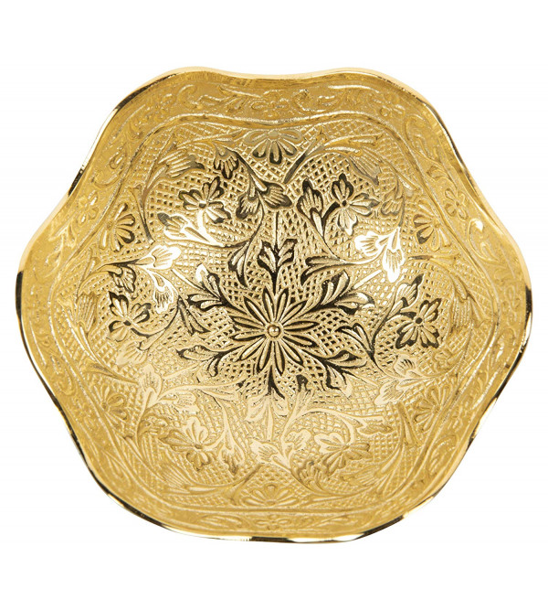 BOWL BRASS 2 PC SET BRASS GOLD PLATED