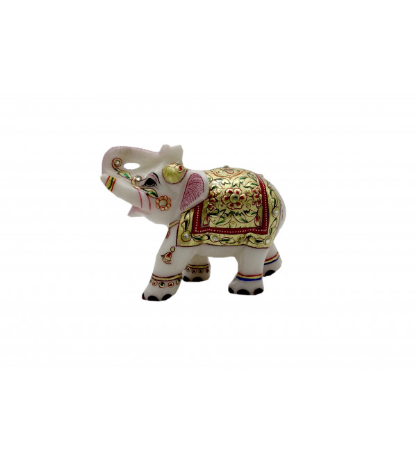 Elephant Marble 3 Inch real gold work