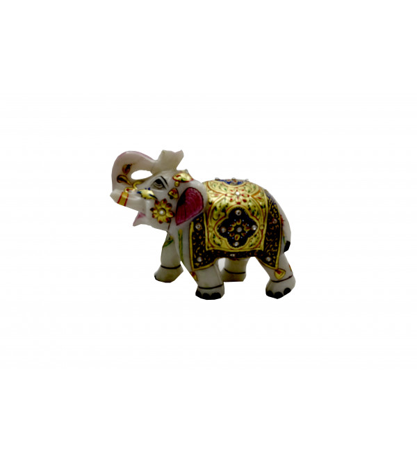 Elephant Marble 4 Inch real goldwork
