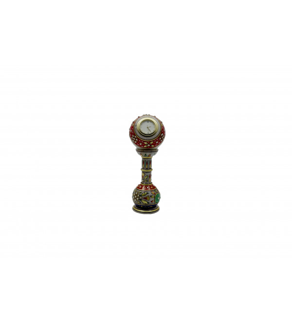 Marble Pillar Watch Handcrafted With Gold Leaf Work