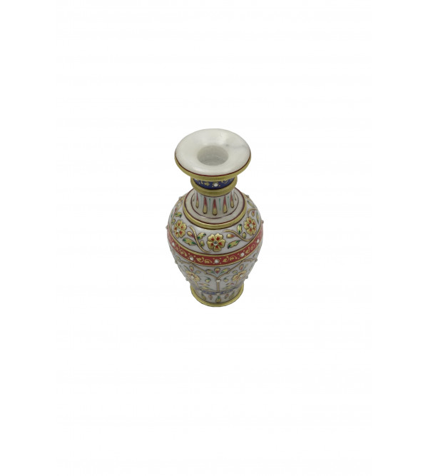 3X5 Inch FLOWER VASE MARBLE Real Gold work