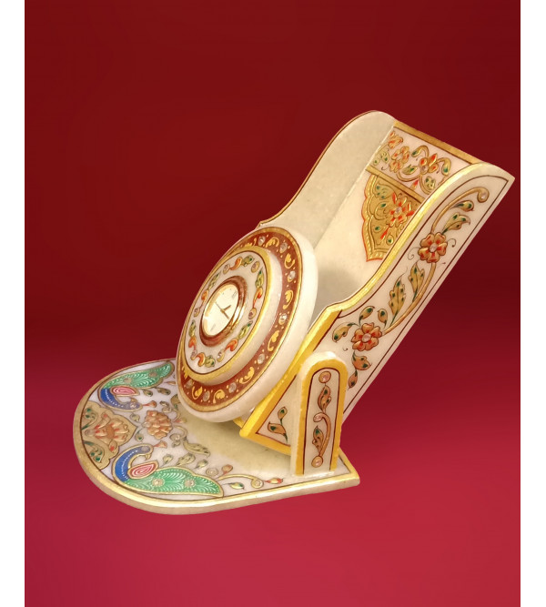 HANDICRAFT MARBLE MOBILE STAND REAL GOLD LEAF WORK