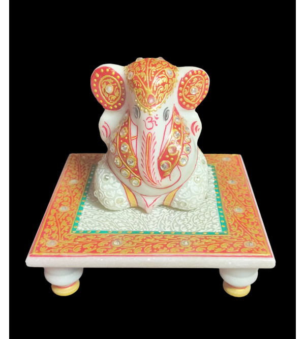 3 GANESHA FINE WORK  WITH REAL GOLD Assorted color and designs