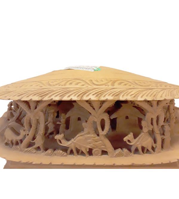Wooden Sea Shell Decorative Pice