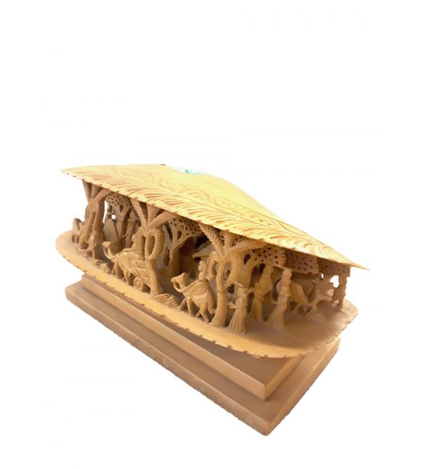 Wooden Sea Shell Decorative Piece