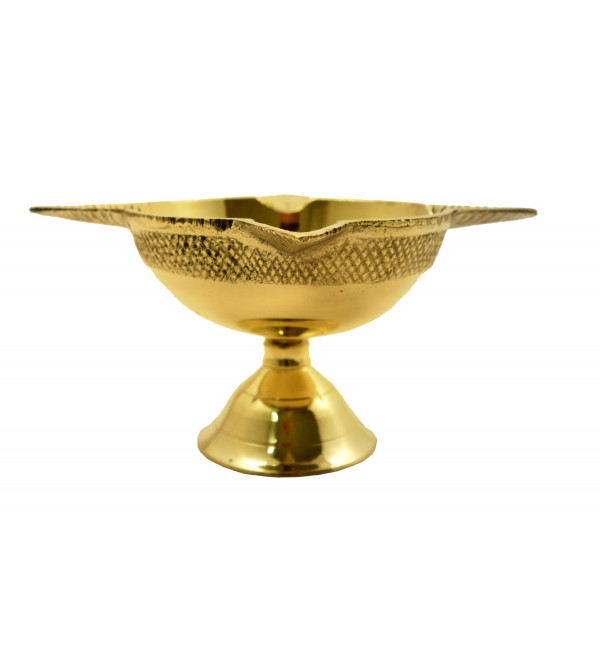 Handicraft Brass Panch Mukhi Oil Lamp 4 Inch