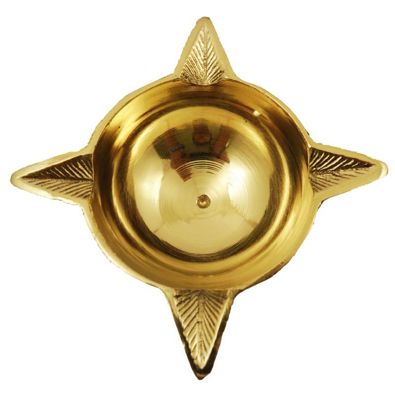 Handicraft Brass Panch Mukhi Oil Lamp 4.5 Inch