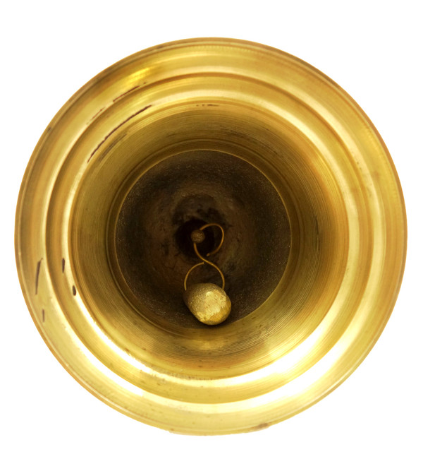 Handicraft Brass Hanging Bell 7 Inch