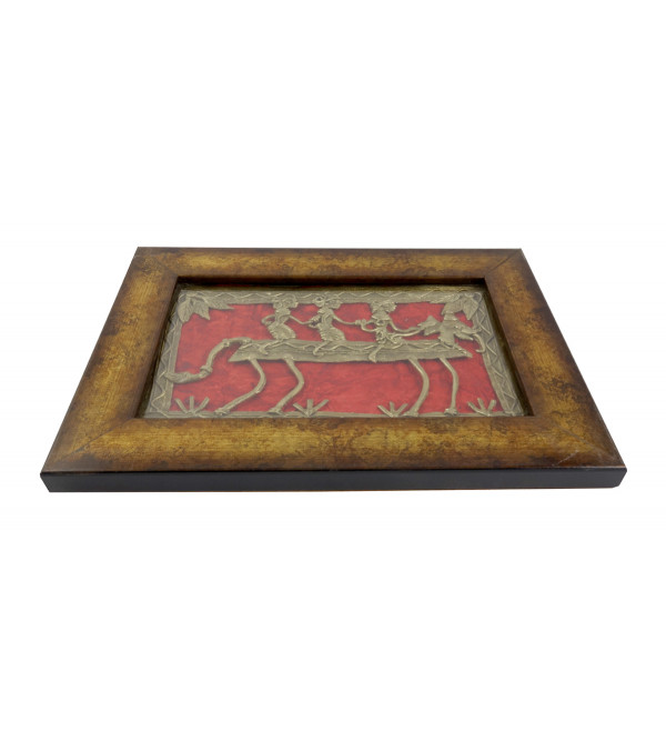 HANDICRAFT DHOKRA PANEL  8X5 INCH