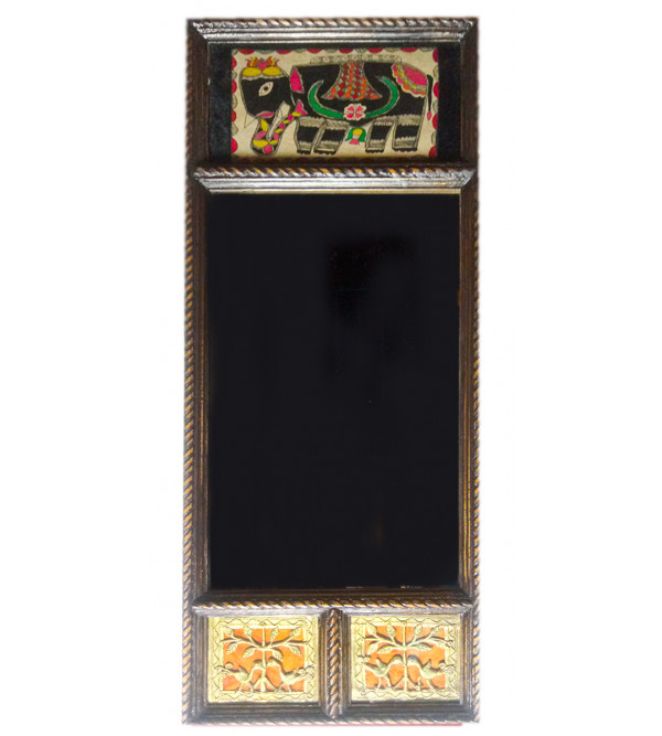 Dhokra Handcrafted Mirror Size 17X9 Inches