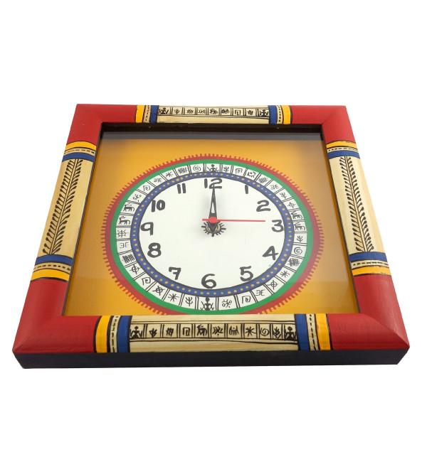 Handicraft Pine Wood Wall clock  10x10x2 Inch
