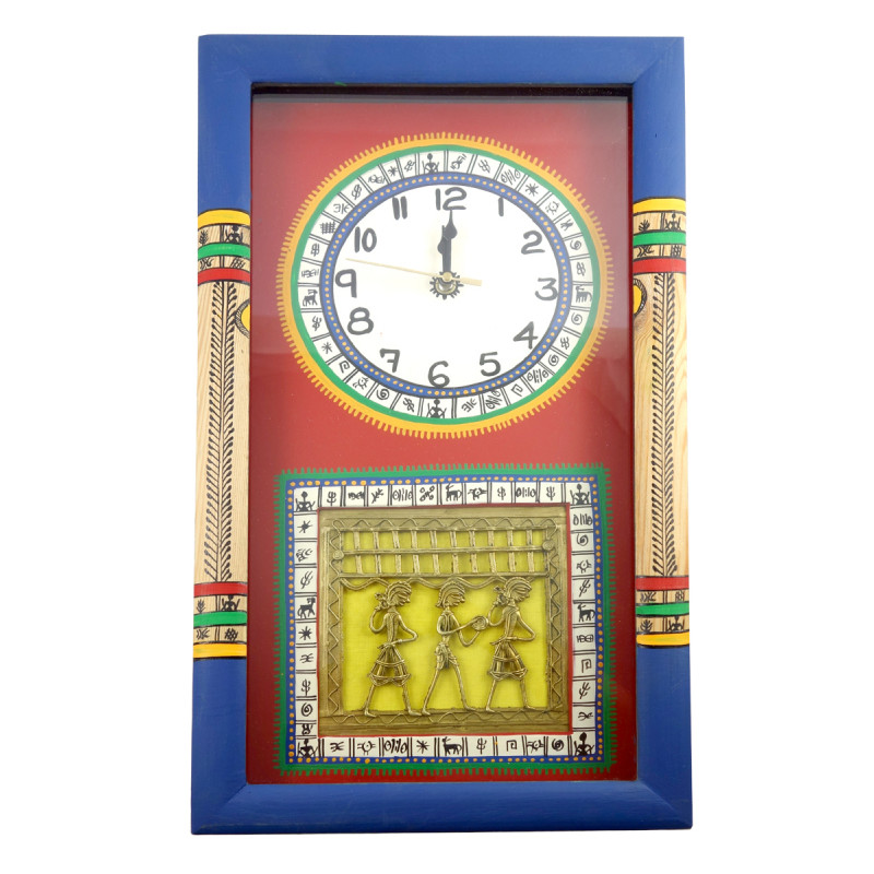 Handicraft Pine Wood Wall clock 18x10x2 Inch