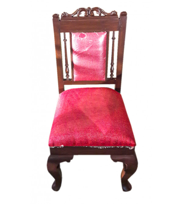 CHAIR WITH DOKRA WORK TEAK WOOD 18X18X40