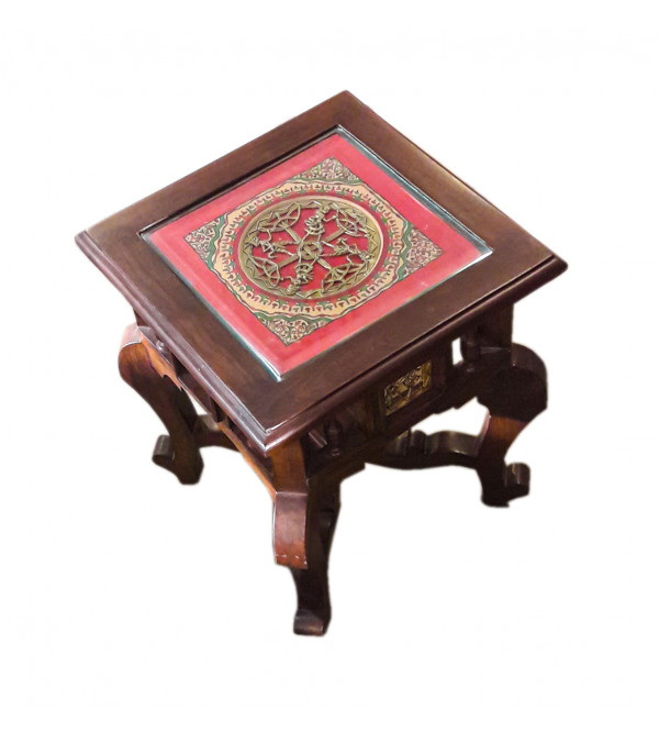 Side Table With Dhokra Work