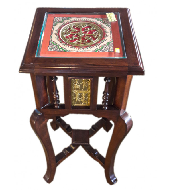 PLANTER TABLE WITH DHOKRA WORK S- 14x14x30 inch.