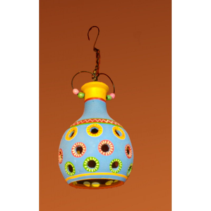 Terracotta Pottery Hanging Lamp Size 10 Inch