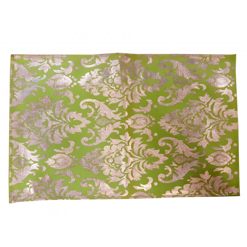 Cotton Hand Block Gold Printed Table  mat Size 13x19 Inch