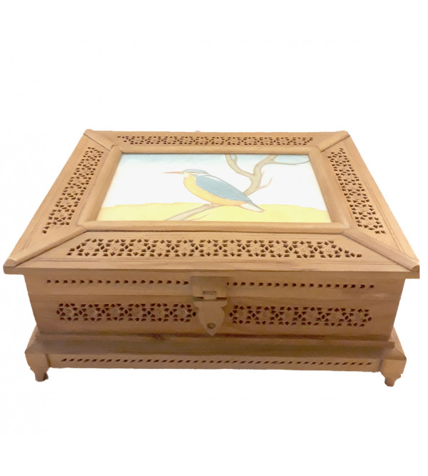 BOX JALI WORK KADAM WOOD 9 X 7 X 3 INCH