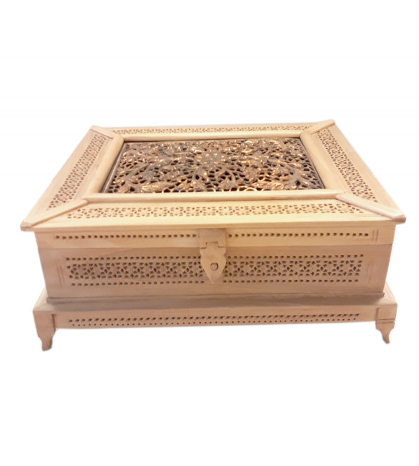 BOX JALI WORK KADAM WOOD 10 X 8 X 4 INCH