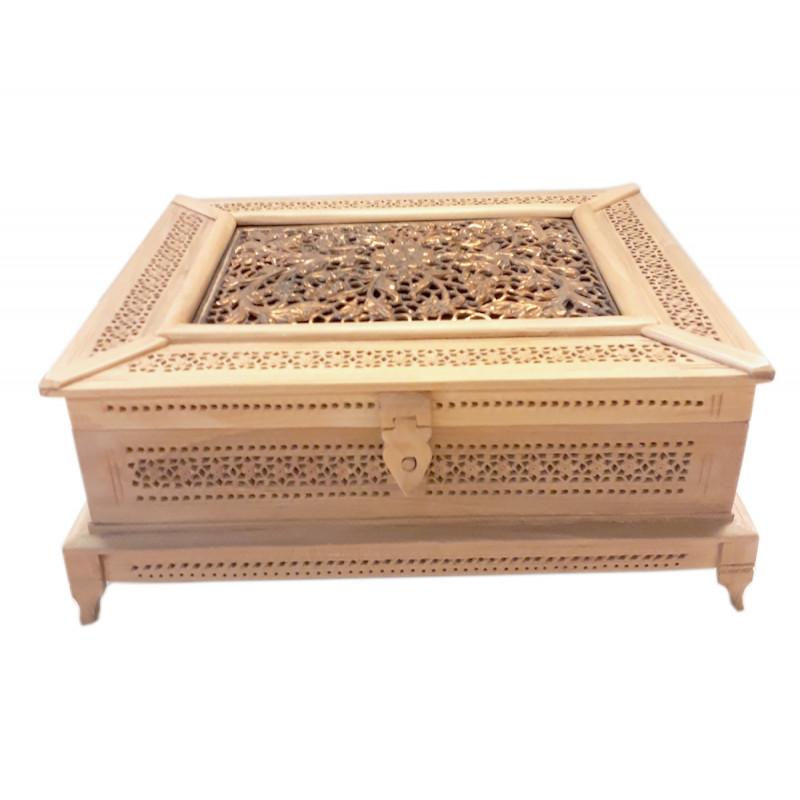 Kadamba Wood Handcrafted Box with Jaali Work