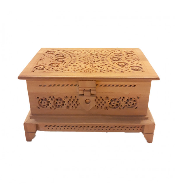 BOX JALI WORK KADAM WOOD 6 X 4  X 3.5 INCH