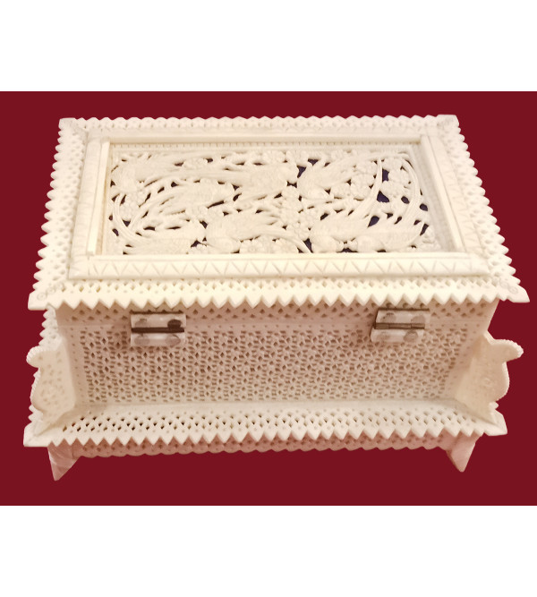 Camel Bone Handcrafted Box with Jali Work