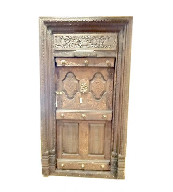 Door Handcrafted In Teak Wood Size 88X45 Inches