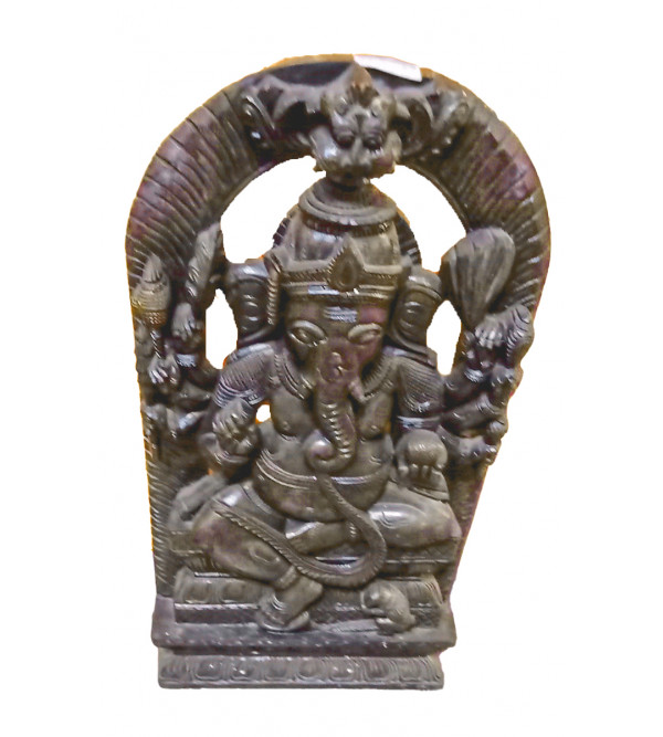 Ganesh Handcrafted In Neem Wood